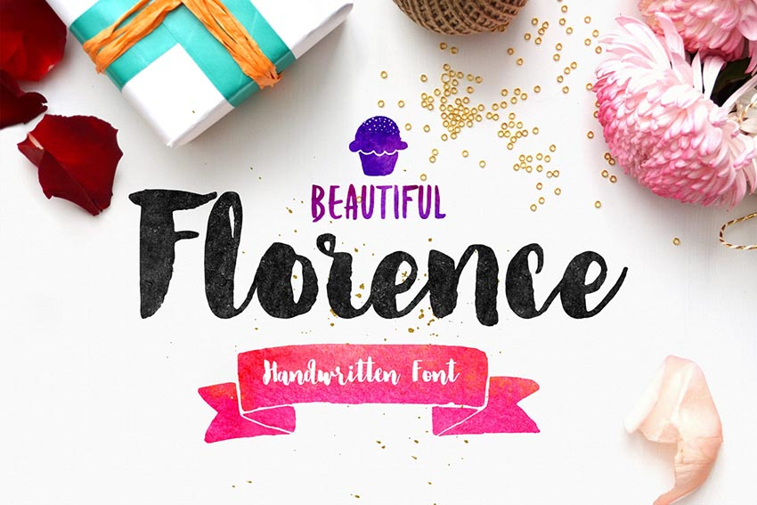 Florence Brush Cursive Font Download for PC and Mac