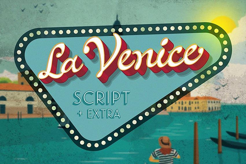 La Venice Awesome Cursive Letters