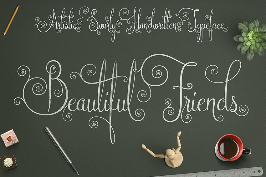 Beautiful Friends Font