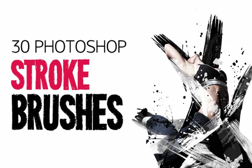 30 Stroke Photoshop Brushes
