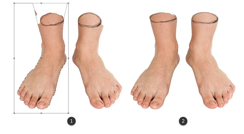 Make the Feet Wider with Free Transform