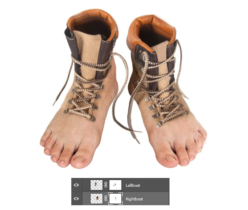 How to Create Realistic Feet-Inspired Hiking Boots in Adobe Photoshop