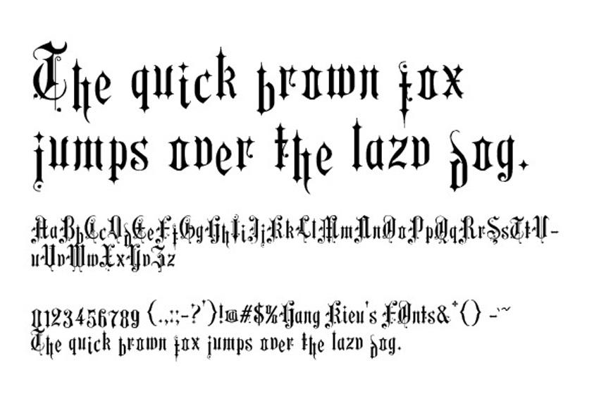 12 Inspiring Old English Fonts