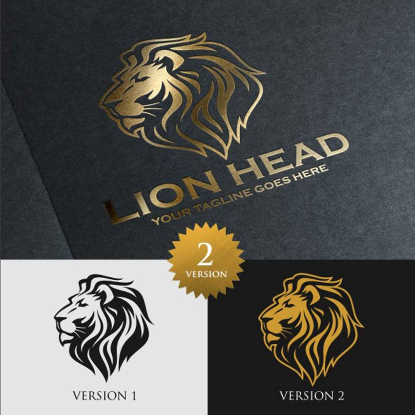 Lion Head Logo Template