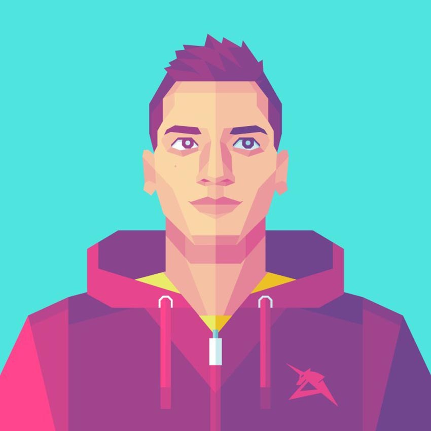Geometric Self Portrait Adobe Ilustrator Tutorial