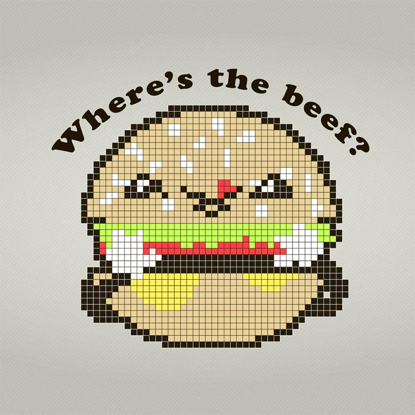 Cute Vector Burger Adobe Illustrator Tutorial