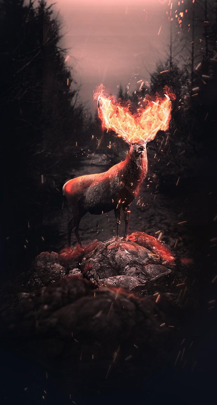 Fire Fantasy Deer Photo Manipulation Tutorial