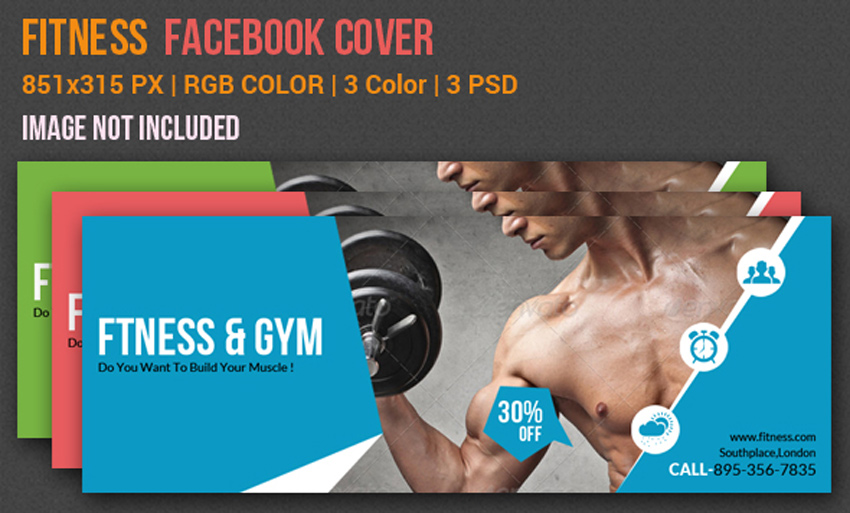 Gym Fitness Facebook Timeline Cover