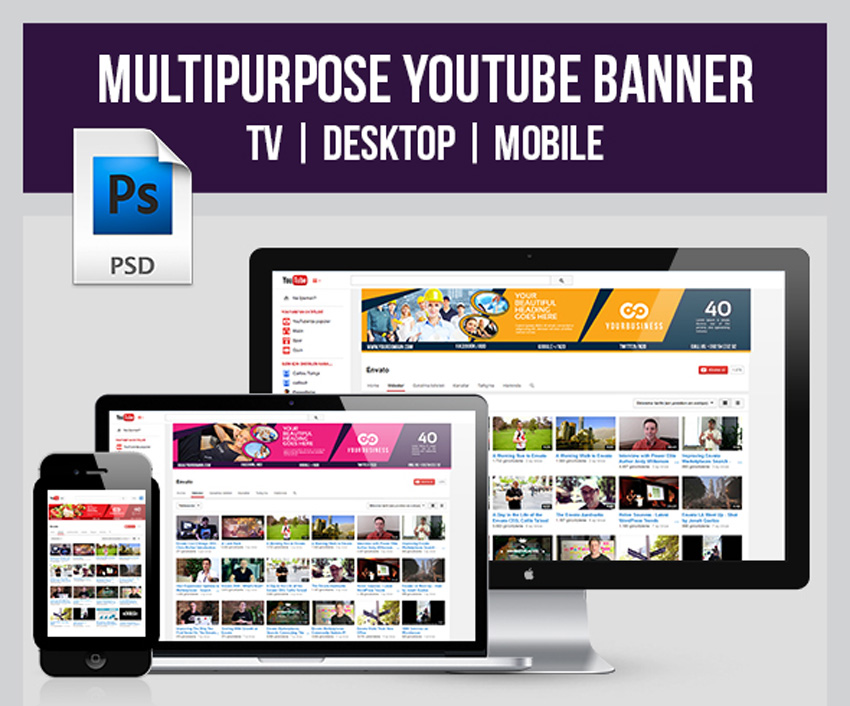 Multipurpose YouTube Banner