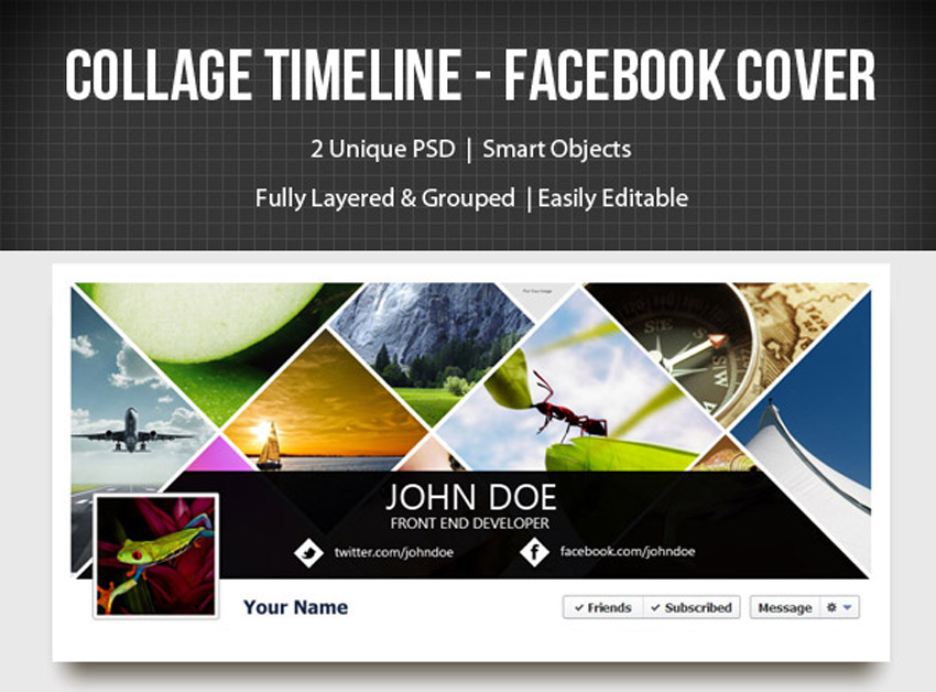 Collage Timeline Facebook Cover