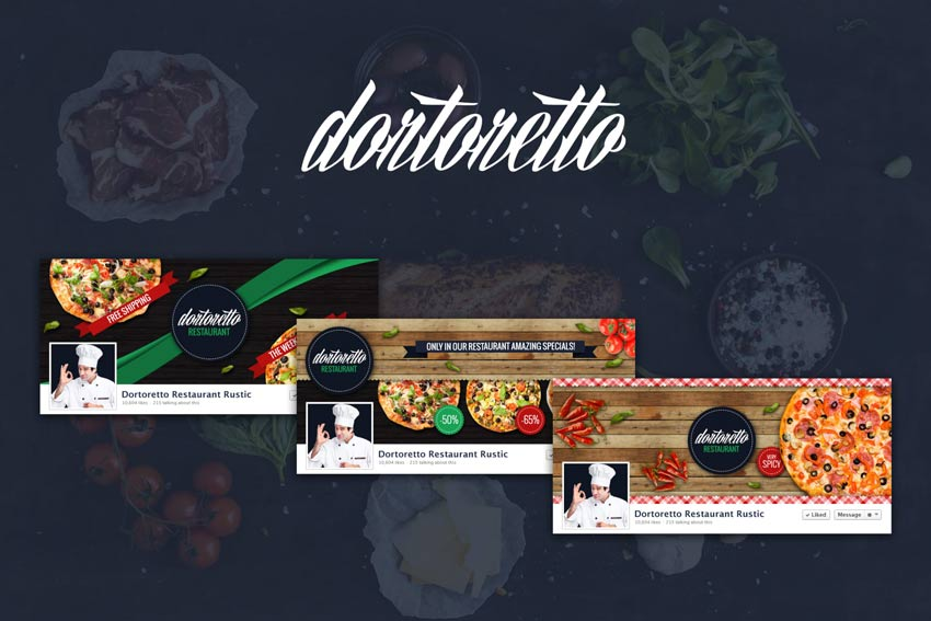 Dortoretto Restaurant  Facebook Rustic Cover