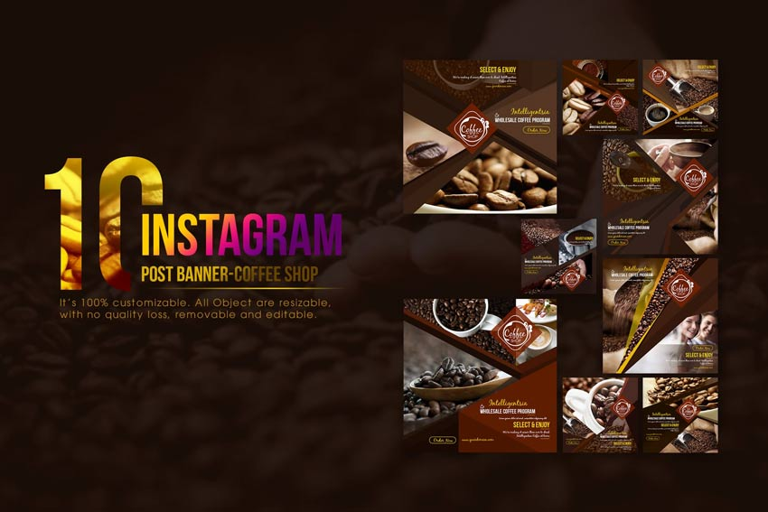 10 Instagram Post Banner - Coffee Shop
