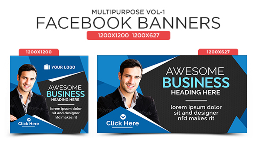 Multipurpose Facebook Banners