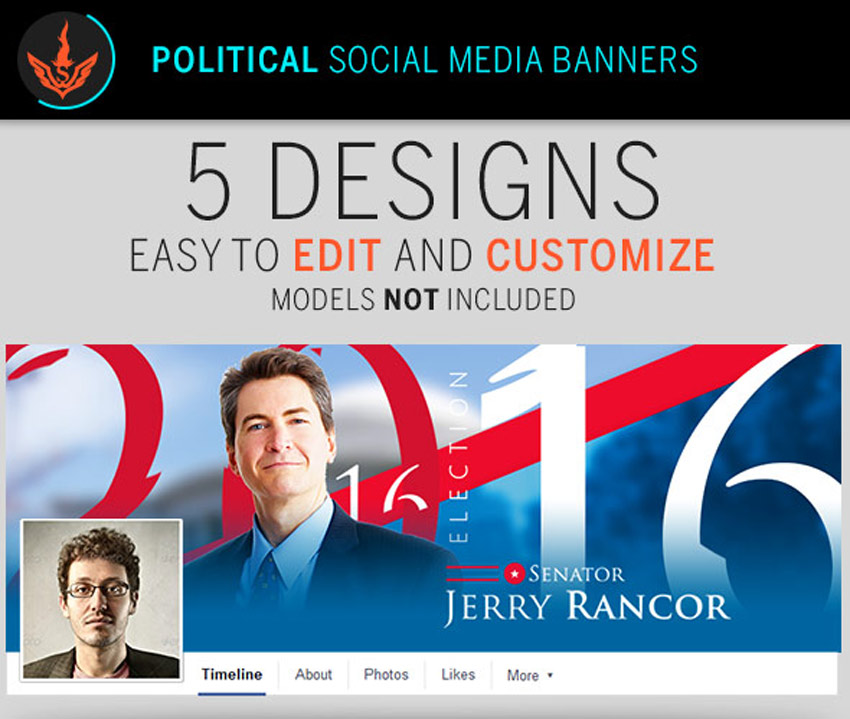 Political Election Social Media Banner