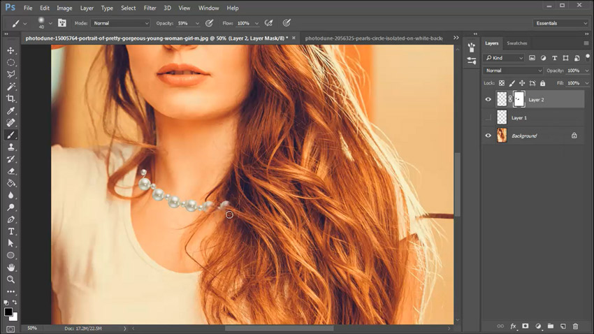 Photoshop in 60 Seconds: Create a Pearl Necklace With the Mixer Brush in Photoshop