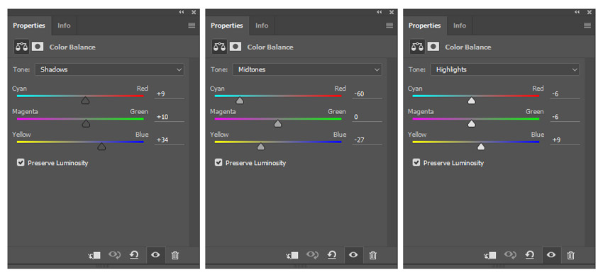 Adjusments for Color Balance