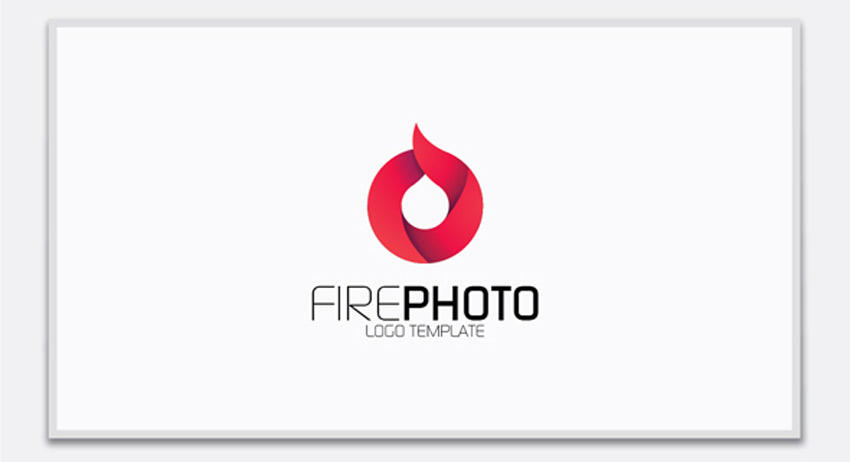 Fire Photo Logo Template
