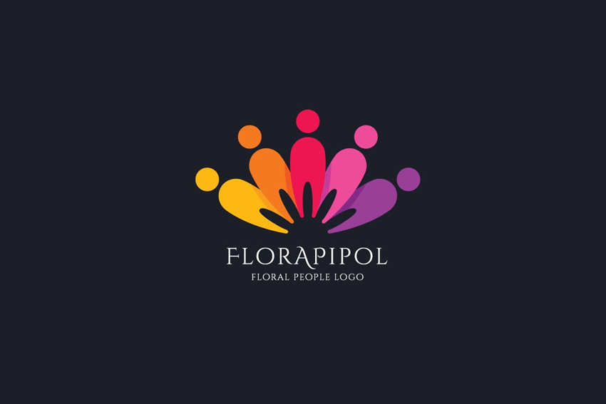 Floral Peoples Logo Template