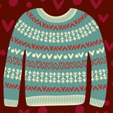 Valentines Sweater Illustration in Adobe Illustrator