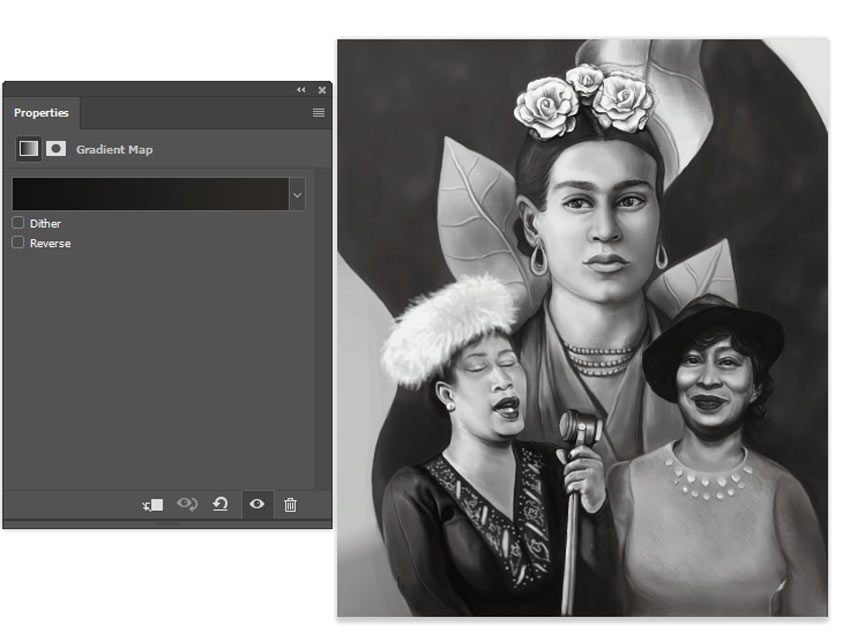 How to Paint a Portrait of Historic Creative Women in Adobe Photoshop