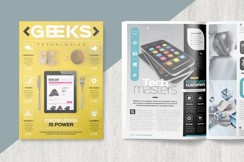 Tech Magazine InDesign Template