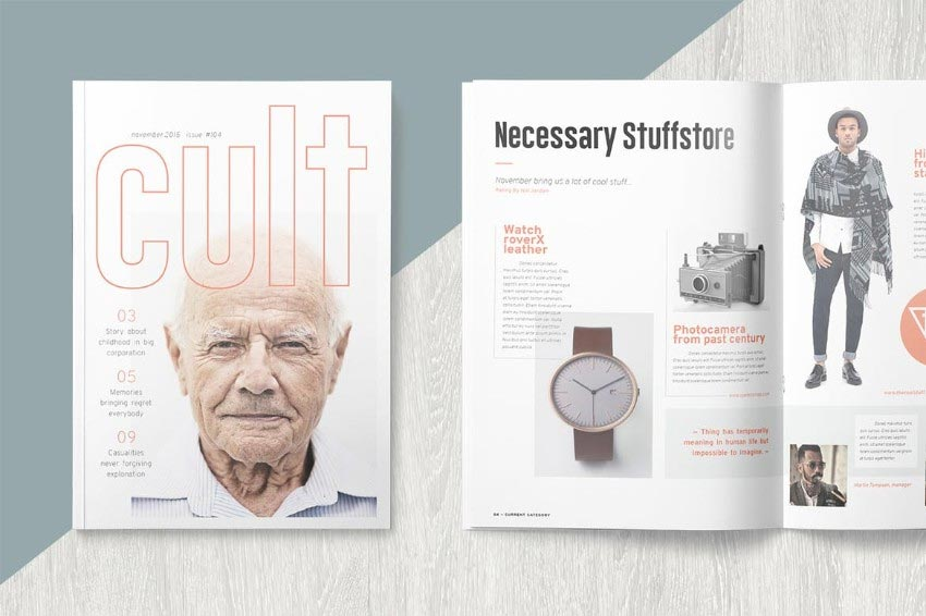 Typography InDesign Magazine Template