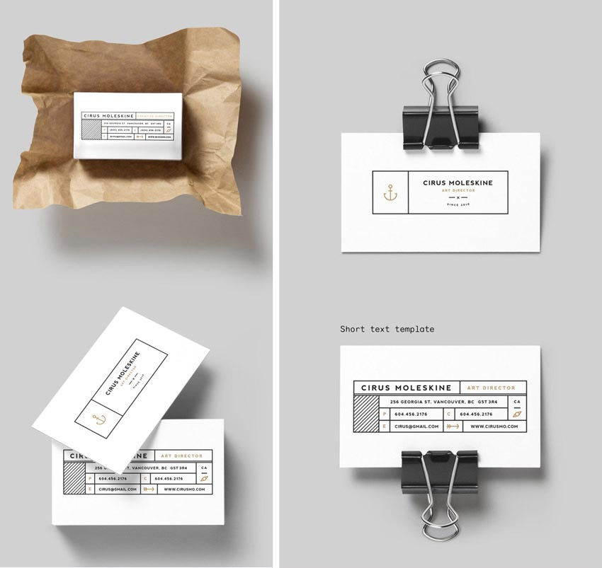 Minimal InDesign Business Card Template