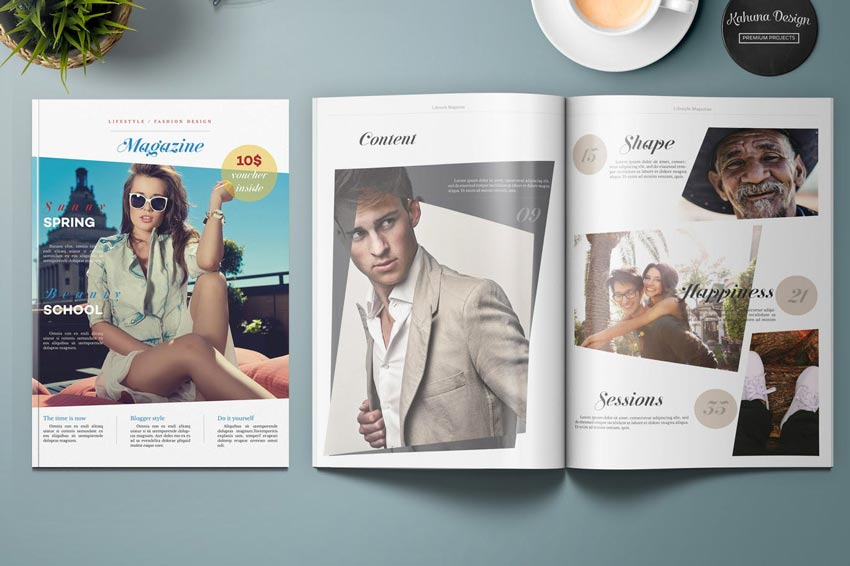 Lifestyle and Fashion Magazine Template