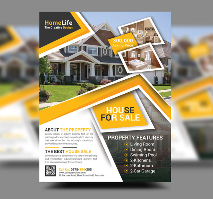 40 professional real estate flyer templates for Home selling design