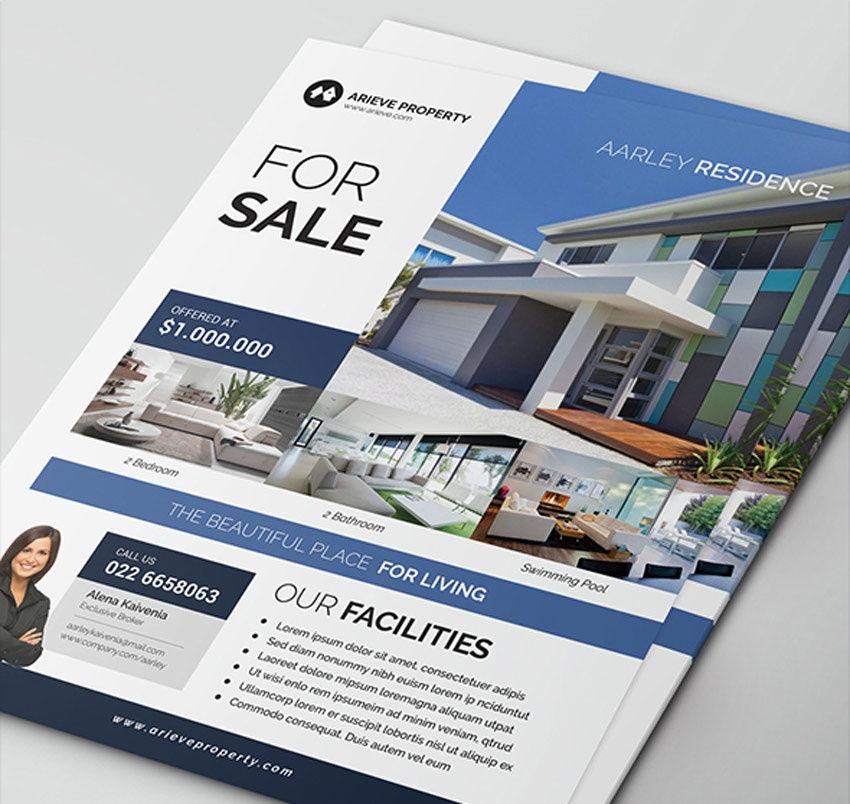 Simple and Elegant Real Estate Flyer
