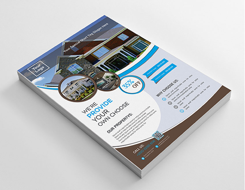 Circular Real Estate Business Flyer