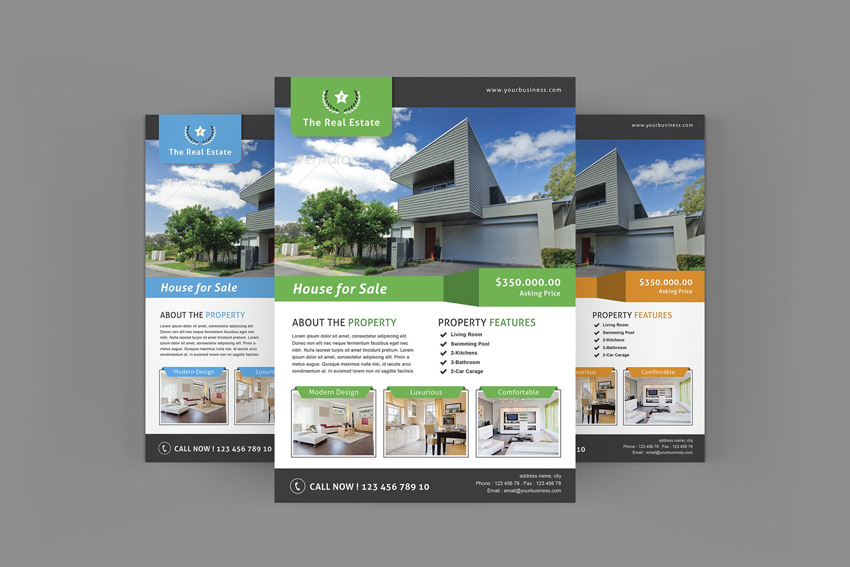 40 Professional Real Estate Flyer Templates ThemeKeeper – House for Sale Flyer Template