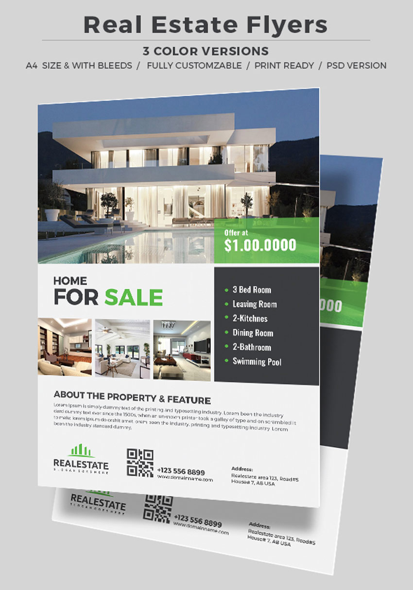 Professional Real Estate Flyer Templates - Real estate advertisement template