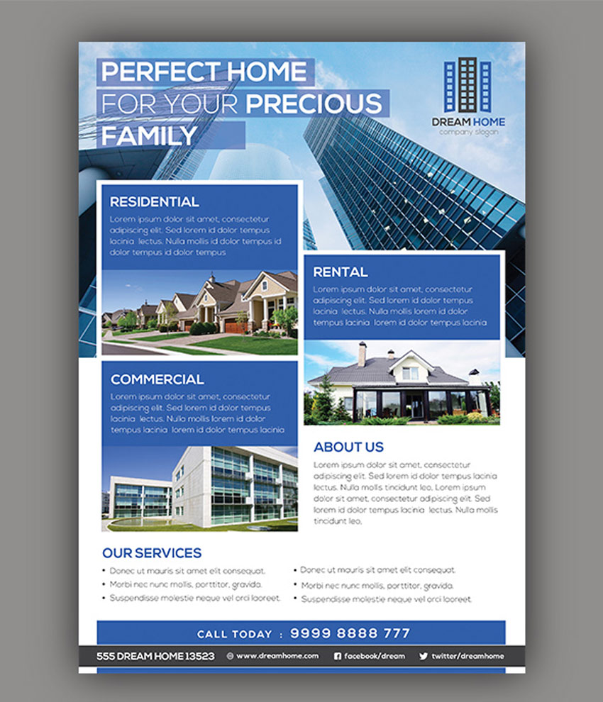 Perfect Home Real Estate Flyer