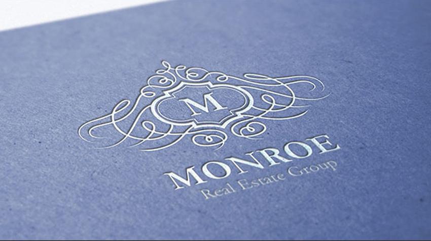 Monroe Letter Crest Logo