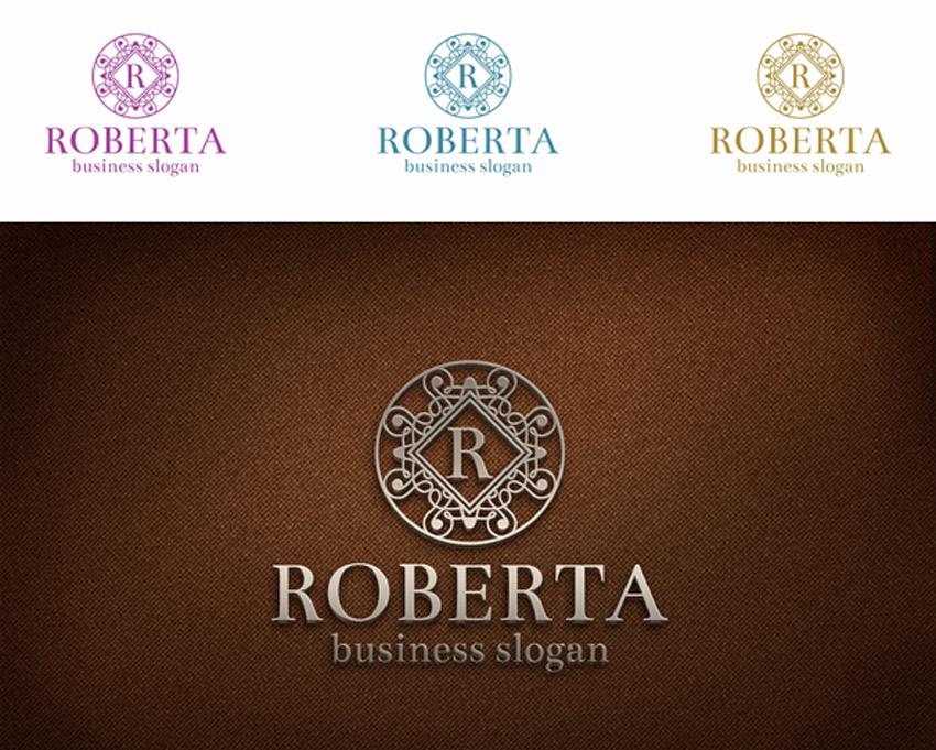 Elegant Boutique Letter Crest Logo