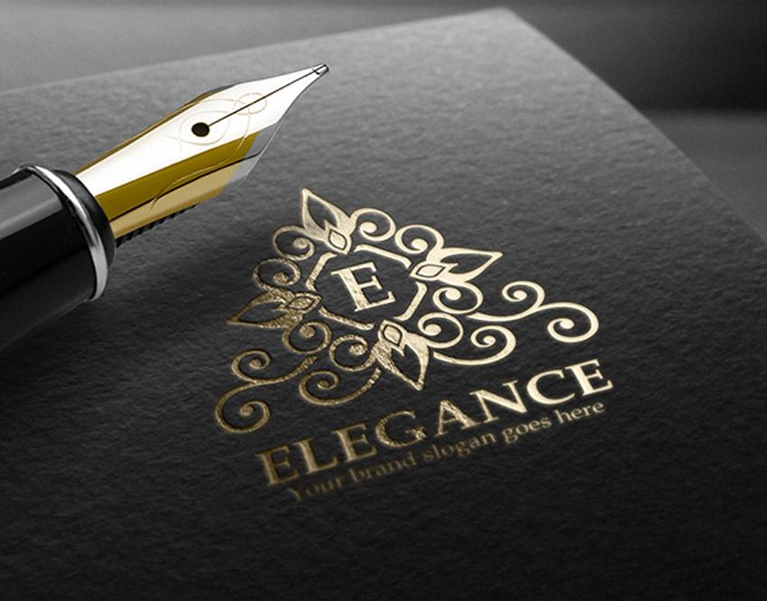 Elegance Letter Crest Logo