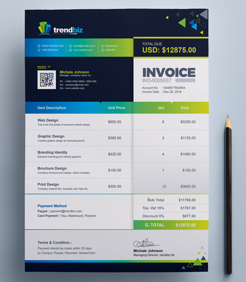 Invoice Templates For Corporations Small Businesses - Rental invoice template microsoft word best online gun store