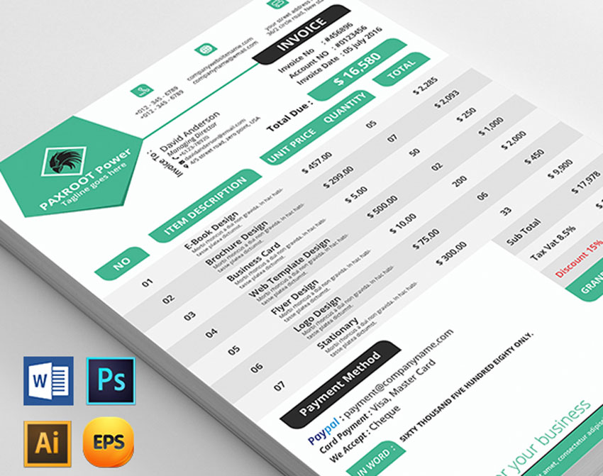 35 Invoice Templates For Corporations Small Businesses
