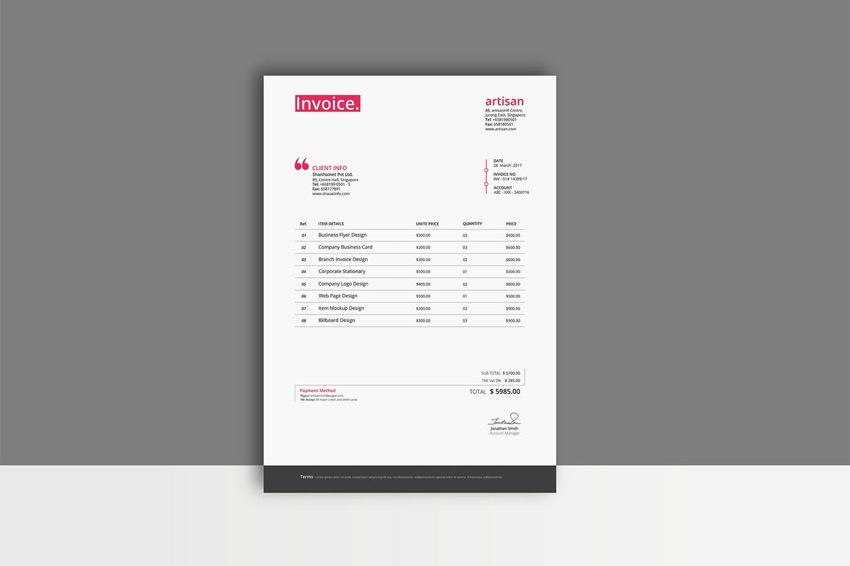 35 invoice templates for corporations & small businesses, Invoice templates