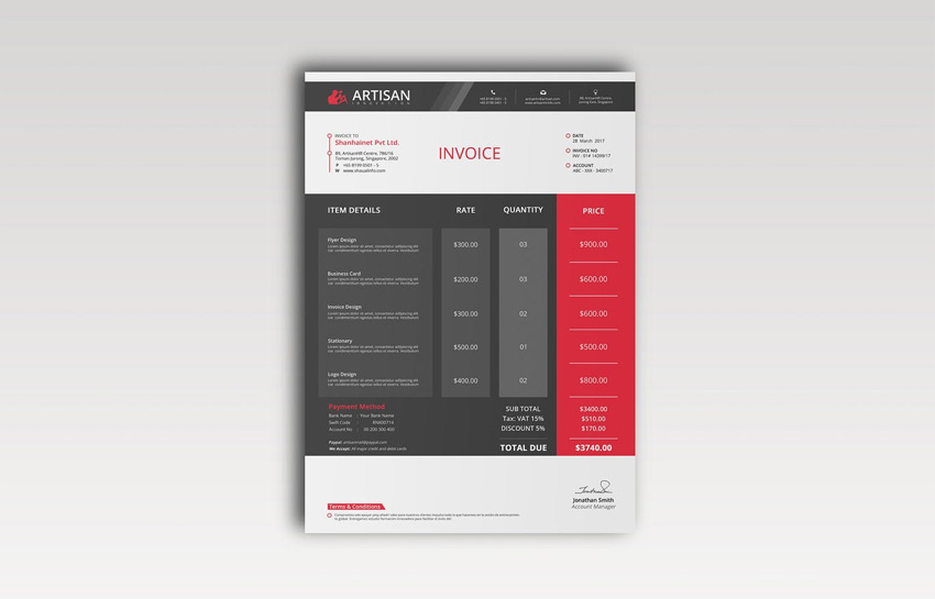 Sophisticated Invoice Template
