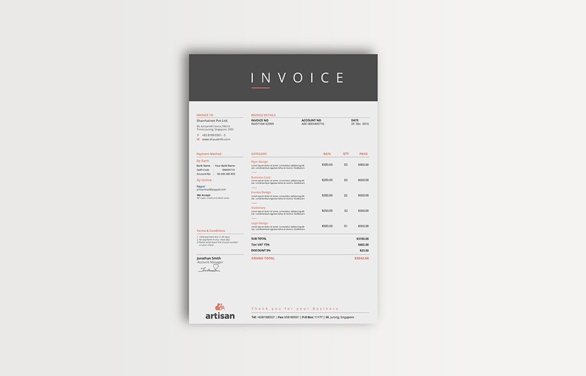 Multipurpose Invoice Template