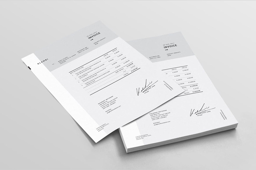 Fashion Invoice Template