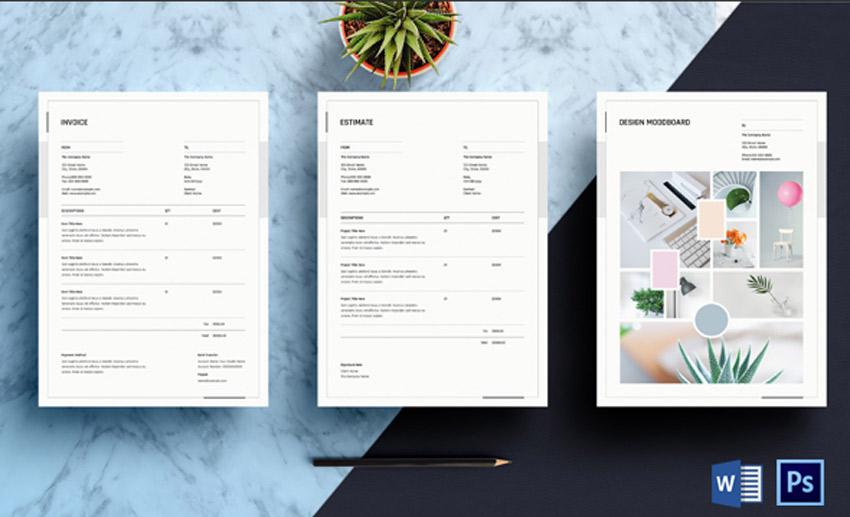 Estimate and Invoice Template
