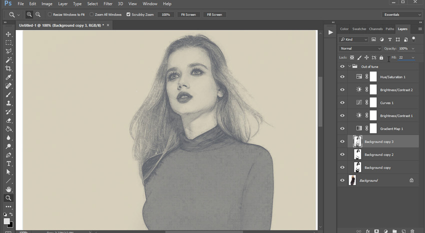 How to Create a Quick and Dirty Sketch From a Photograph With a Photoshop Action