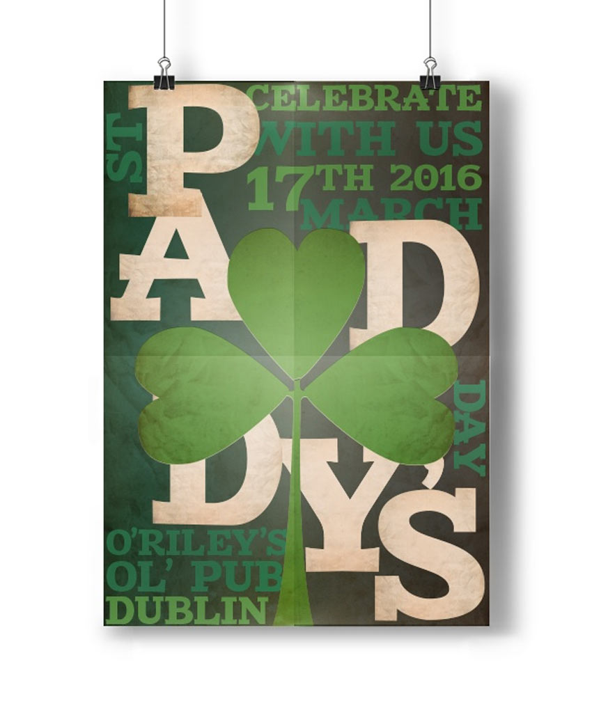St Patricks Typography Poster InDesign Tutorial