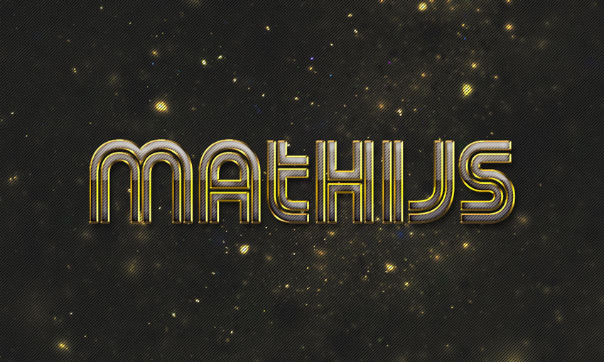 Futuristic Metal Text Effect Photoshop Tutorial