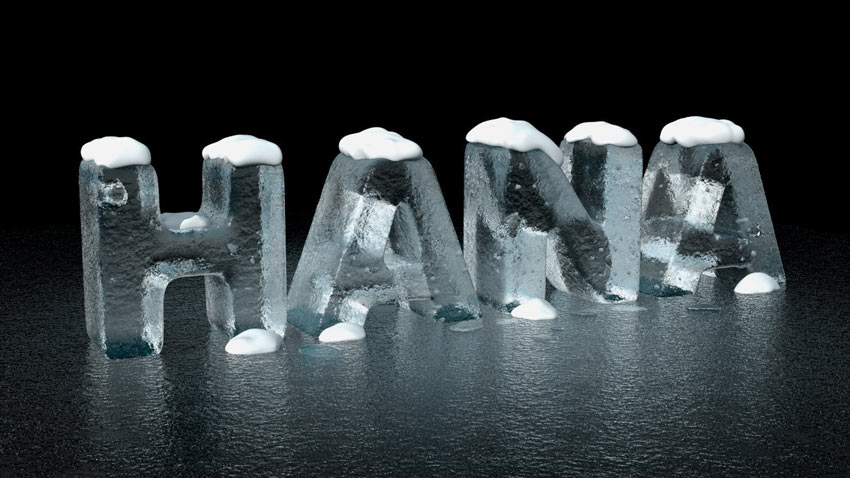 3D Ice Text Effect Photoshop Tutorial