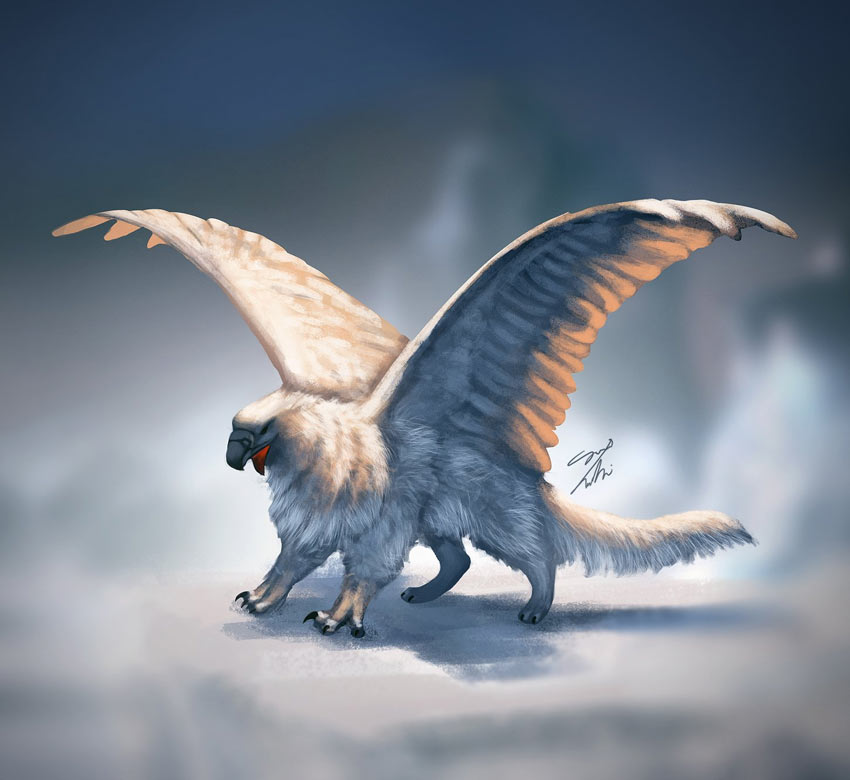 Snow Griffin Digital Painting Photoshop Tutorial