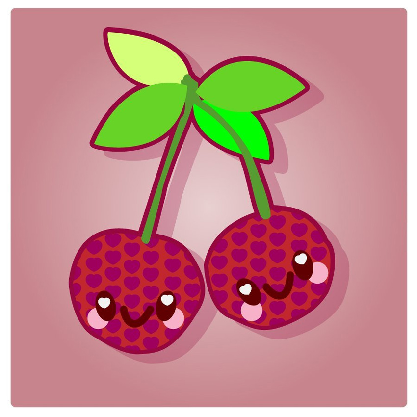 Kawaii Cherry Vector Illustration Tutorial